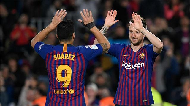 Suárez sentenció tras una gran jugada de Rakitic