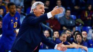 Svetislav Pesic, técnico del Barça, elogió a sus jugadores