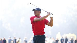 Tiger Woods en la ronda final del Genesis Invitational
