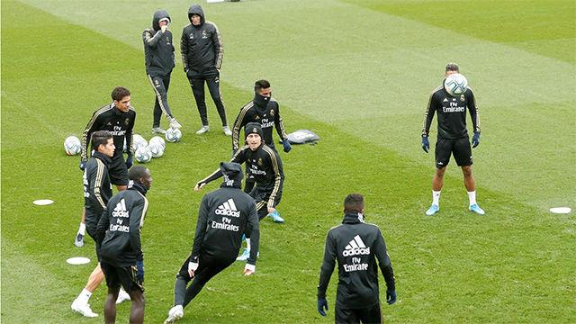 El último entrenamiento del Madrid antes de jugar contra el Athletic