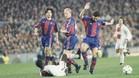 Una imagen del partido de ida, celebrado en el Camp Nou (1-1)