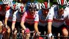 Valerio Conti llega de rosa a la primera etapa de montaña
