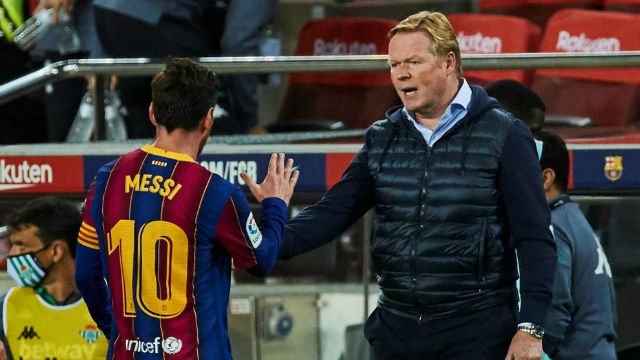 Koeman a Messi