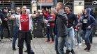 Aficionados del Ajax antes del encuentro