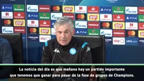 Ancelotti difiere de De Laurentis
