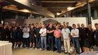 El Barça B hizo piña en el restaurante El Molí de LEscala