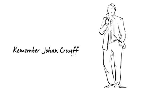 El bonito homenaje en memoria aJohan Cruyff