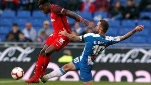 Darder, durante el partido contra el Sevilla