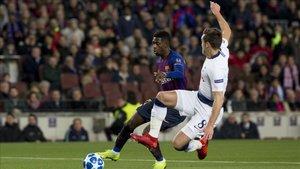 Dembélé marcó un golazo ante el Tottenham