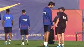 El enigmático gesto entre Piqué y Valverde. ¿Qué se dijeron?