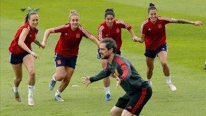 España, durante un entrenamiento del Mundial