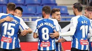 El Espanyol sonríe pocos meses después de sus amargas lágrimas por el descenso