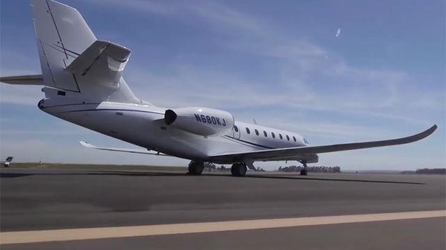 Este es el avión privado de Neymar