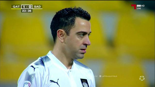 El exquisito gol de falta de Xavi Hernández