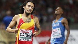 Fernando Carro acaba de batir el récord de España de 3.000 metros obstáculos