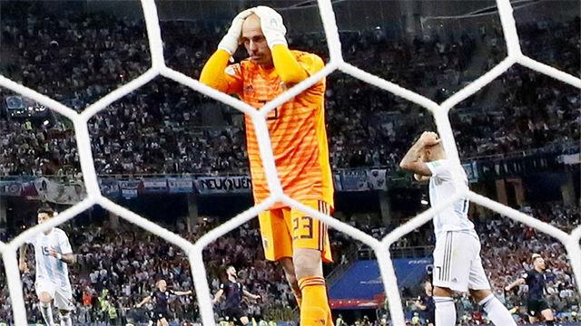 La gran cantada de Caballero en el primer gol de Croacia