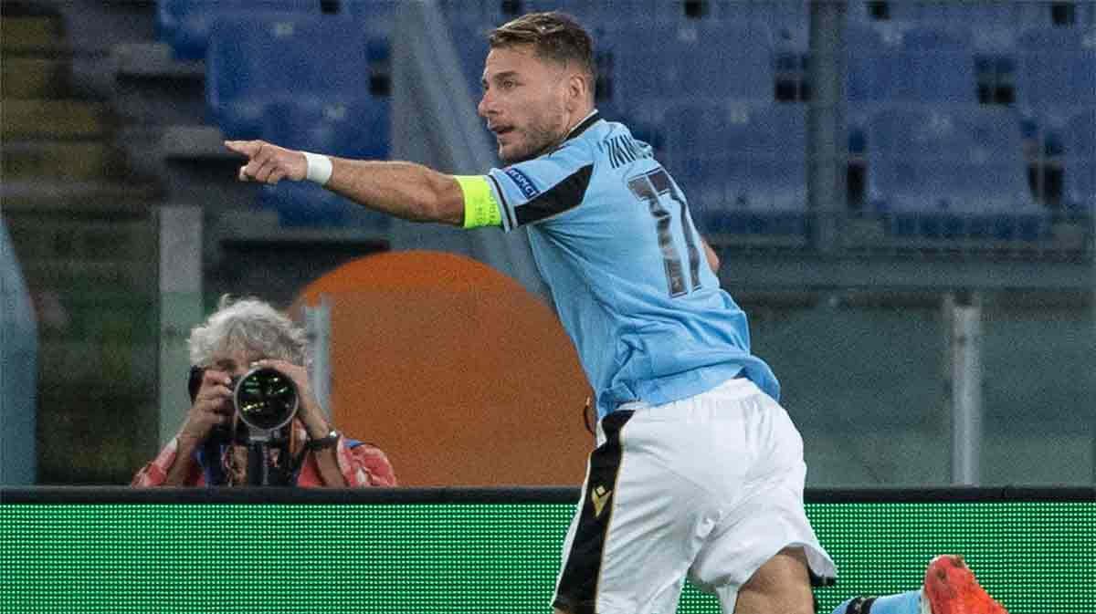 Immobile solo necesitó un toque de calidad para marcar el primer tanto de la Lazio