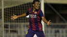 Kaptoum, jugador del FC Barcelona B, ha sido llamado por vez primera en una convocatoria de Champions con el primer equipo
