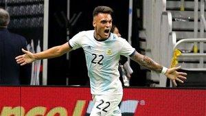 Lautaro Martínez, delantero del Inter, en la lista preolímpica de Argentina