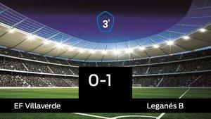 El Leganés B se lleva tres puntos a casa al vencer Villaverde