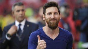 Leo Messi volvió a deslumbrar