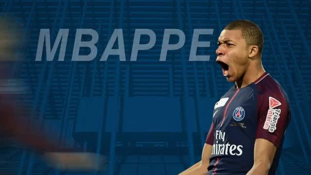 Los goles de Mbappé con el PSG en la temporada 2017/2018