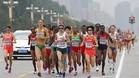 La maratón femenina fue la única prueba que se disputó en sesión matinal
