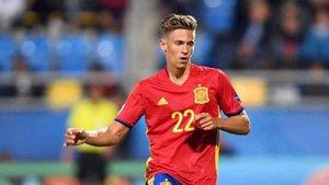 Marcos Llorente, con la selección española