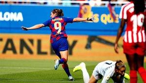 Mariona celebrando su gol ante el Atlético de Madrid