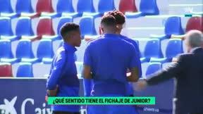 El momento en el que Junior se enteró de que no entraba en la convocatoria ante el Levante: No pareció hacerle mucha gracia
