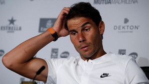 Nadal, durante la rueda de prensa previa al Mutua Madrid Open