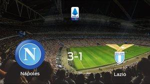 El Nápoles se queda con los tres puntos ante el Lazio (3-1)