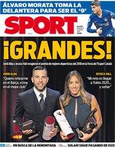 La portada de SPORT de este miércoles 16 de enero