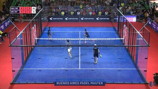 El puntazo de partido con el que Ale Galán y Juani Mieres se meten en la final batiendo a los números uno Sanyo Gutiérrez y Maxi Sánchez