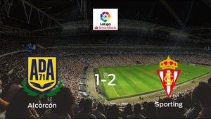 El Real Sporting se lleva tres puntos a casa después de derrotar 1-2 al Alcorcón