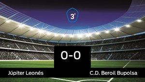 Reparto de puntos entre el Júpiter Leonés y el Beroil Bupolsa, el marcador final fue 0-0