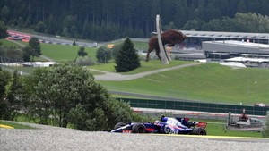 Sainz, en la sesión de calificación del GP de Austria