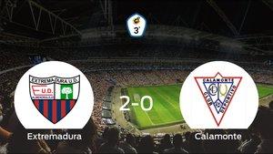 Tres puntos para el equipo local: Extremadura B 2-0 Calamonte