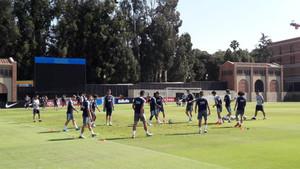 El último entrenamiento del Barça en las instalaciones de UCLA durante la gira por Estados Unidos-2018