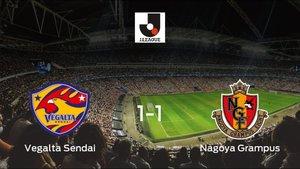 El Vegalta Sendaiy el Nagoya Grampusse reparten los puntos en el Yurtec Stadium Sendai (1-1)