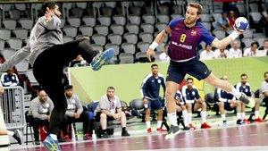 Víctor Tomàs hizo un buen partido pese a sus problemas lumbares