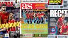 La victoria de España acapara las principales portadas de los rotativos deportivos de este miércoles