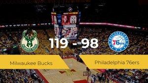 Victoria de Milwaukee Bucks ante Philadelphia 76ers por 119-98