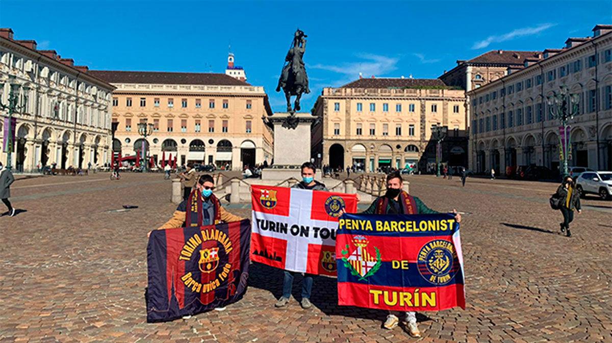 La vida de tres culés en Turín