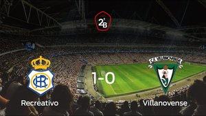 El Villanovense pierde ante el Recreativo (1-0)