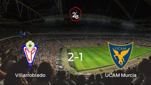 El Villarrobledo consigue la victoria en casa frente al UCAM Murcia (2-1)
