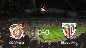 El Vitoria y el Bilbao Ath. empatan a 0 en los Campos de fútbol Olaranbe
