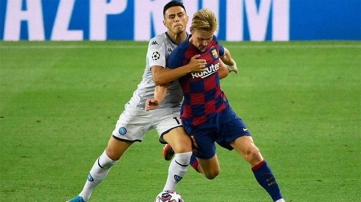El 1x1 del Barça ante el Nápoles