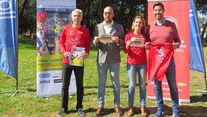 Anulada tras la presentación ayer de la I Trail de Lloret con el Alcalde Jaume Dulsat, la regidora de deportes Ana García-Castany, y Jose Luis Blanco organizador