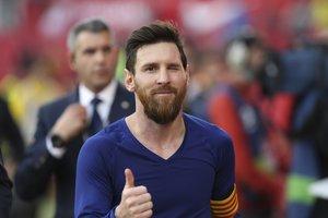 Así de feliz cazo Sport a Leo Messi al fiinal del partido